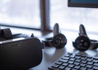 La réalité virtuelle immersive avec l'Oculus Rift. 3 stations sont disponibles.