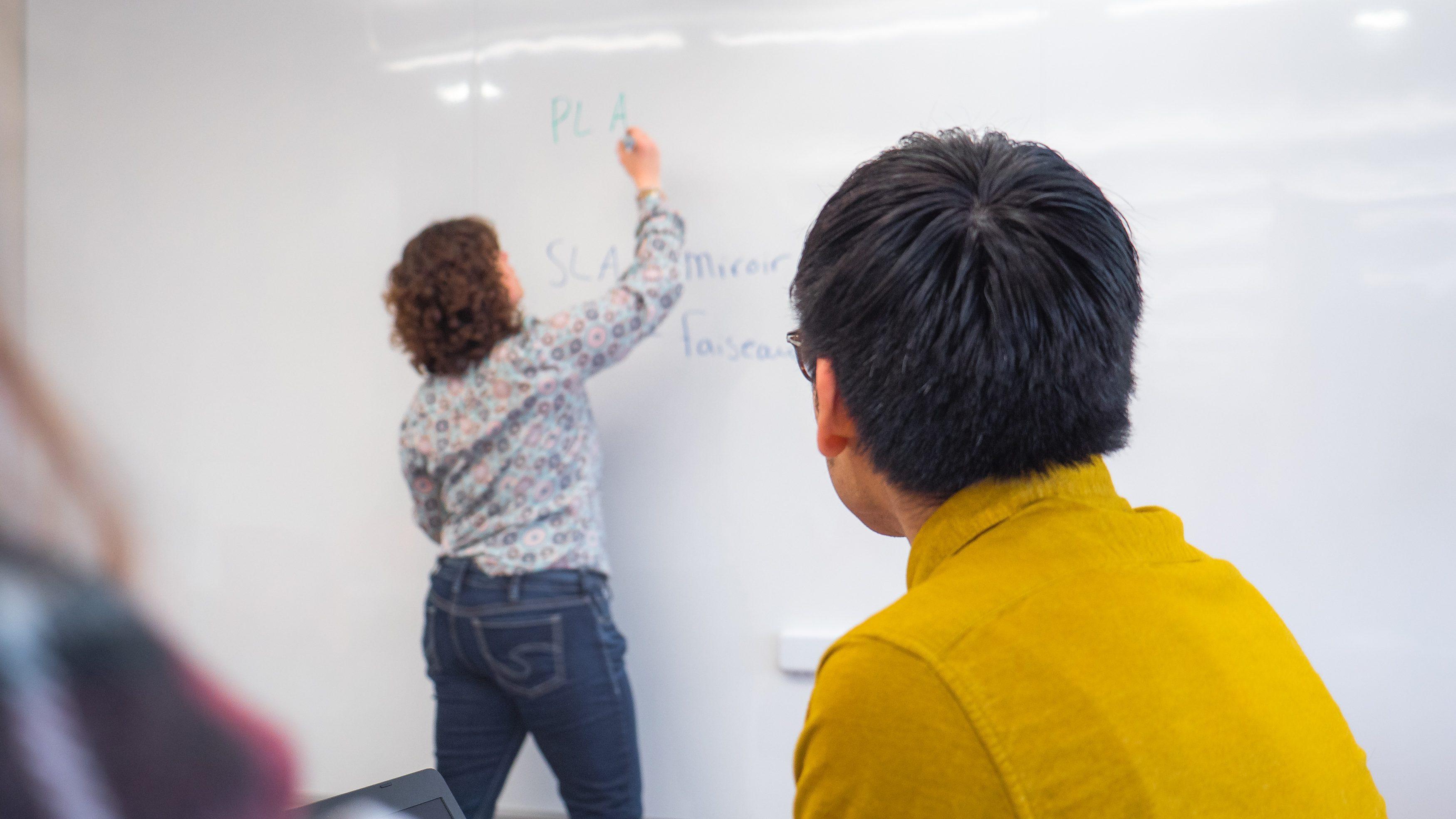 Inscrivez tous ce dont vous désirez exprimer. Plusieurs étudiants peuvent y travailler en même temps.