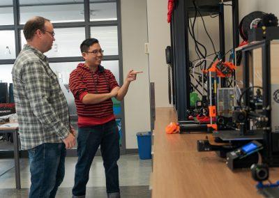Notre invité découvre les imprimantes 3D