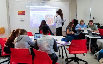 Les étudiants de Soins infirmiers dans l'action